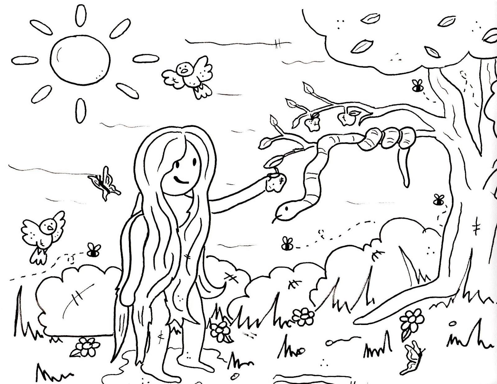 Garden Of Eden clipart taman eden Pages Coloring Sunday For