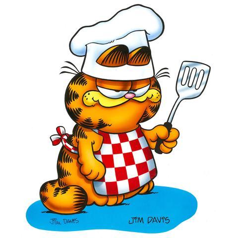 Garfield clipart art painting Collectibles: Animation Grillin' Garfield Original