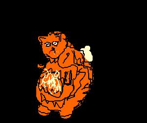 Garfield clipart binge eating Binge of Garfield eating night