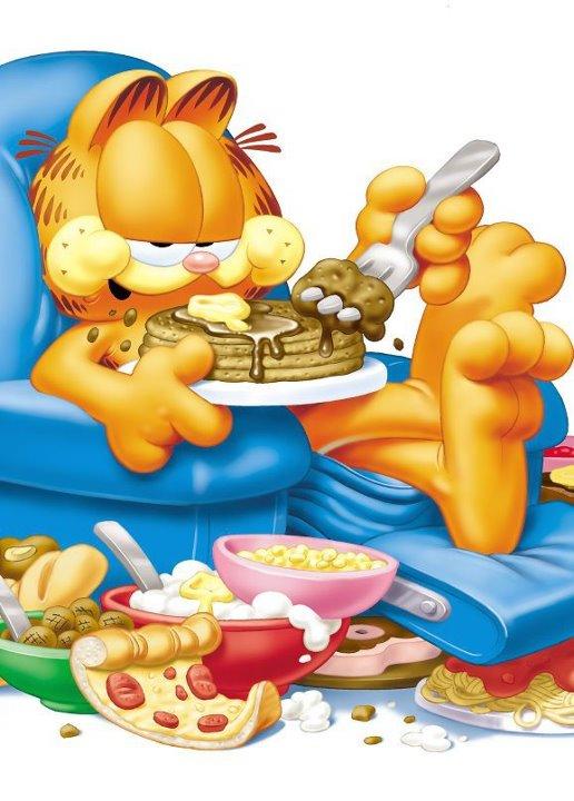 Garfield clipart binge eating – Macros and Garfield Dieting