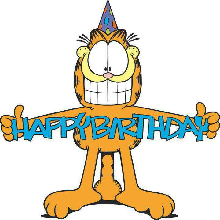 Garfield clipart birthday cat More é hoje and 18