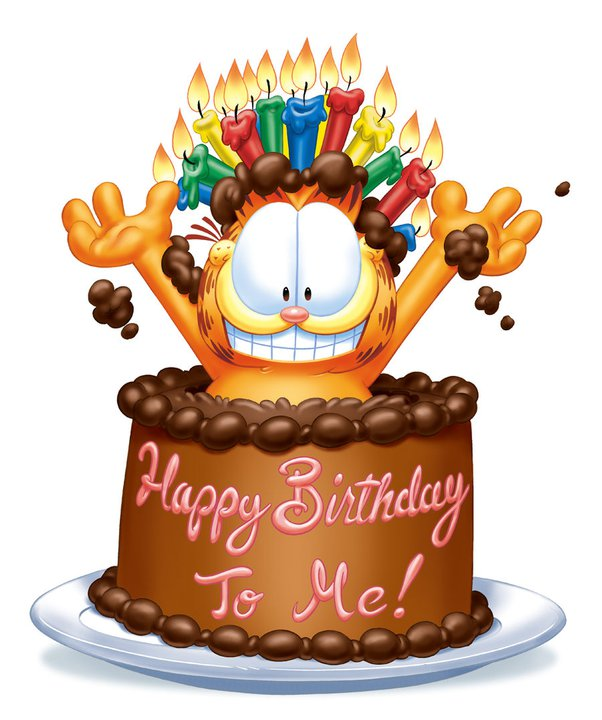 Garfield clipart birthday cat Happy ! Happy Garfield Pinterest