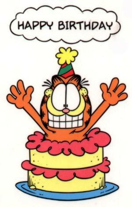 Garfield clipart birthday cat Google  festa cake minhas
