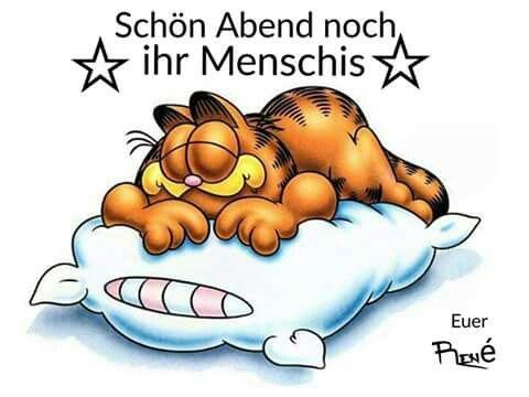 Garfield clipart guten tag Find Guten best Nacht on