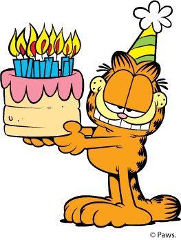 Garfield clipart happy On about Birthday! Pinterest 216