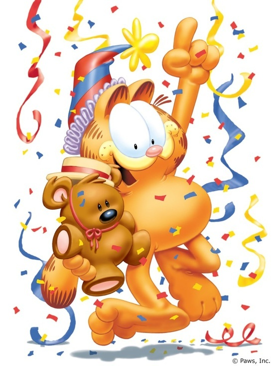 Garfield clipart party 99 images Garfield & friends