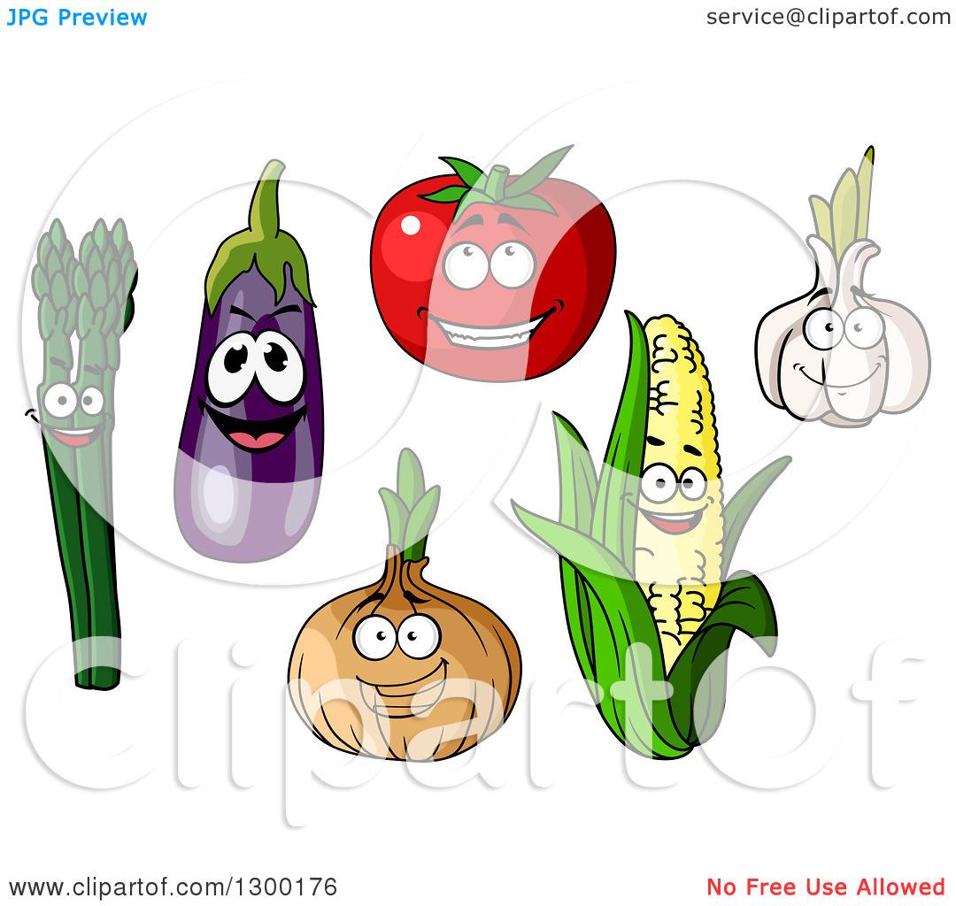 Garlic clipart happy Clipart Corn Tomato Garlic cliparts