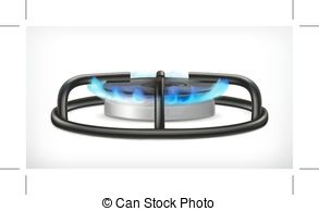 Gas Cooker clipart Illustrations white Kitchen EPS