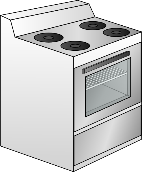 Gas Cooker clipart bake oven Royalty vector Stove image this