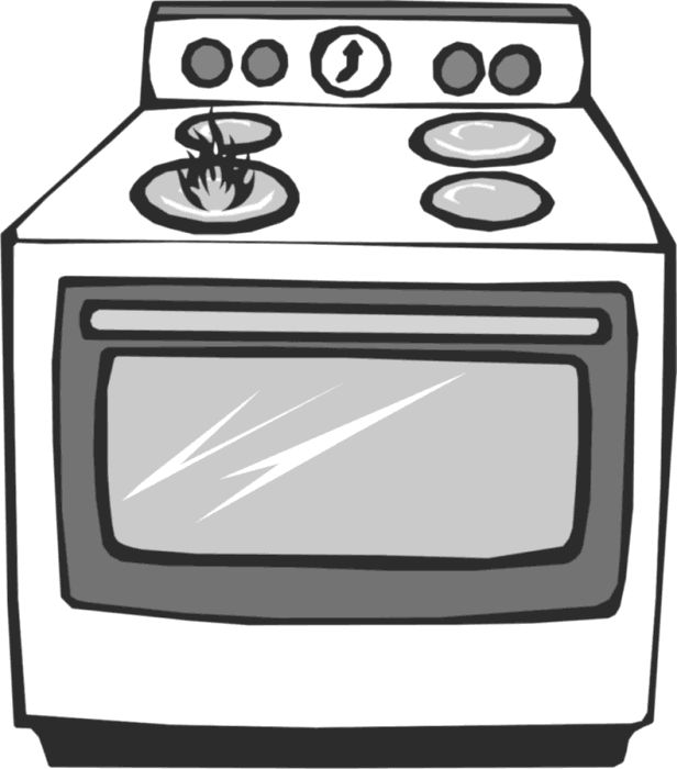 Gas Cooker clipart bake oven Art of Free Stove Kitchen