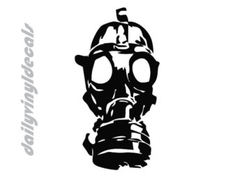 Gas Mask clipart anti Gasmask Decal *Choose Sticker Vinyl