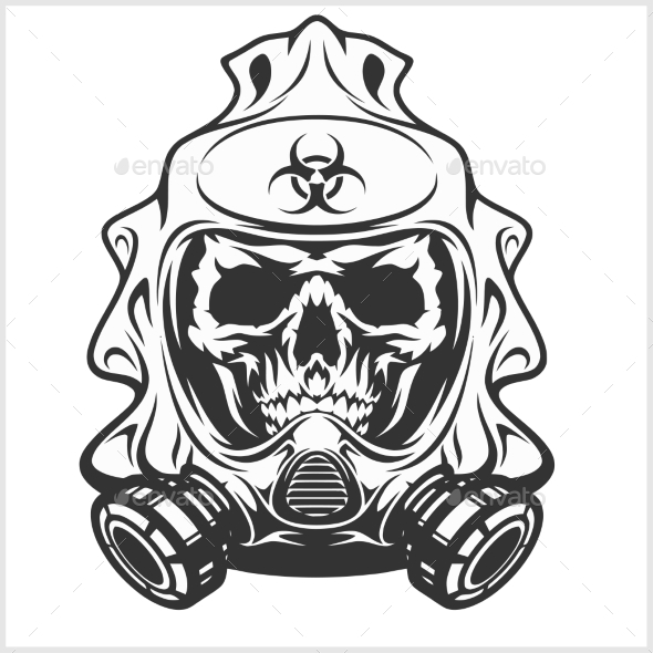 Gas Mask clipart biohazard Skull Digital  by Mask