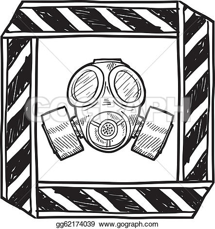 Gas Mask clipart biological Chemical style vector mask Vector