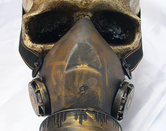 Gas Mask clipart biological Lightweight Distressed Biological Brass Nuclear