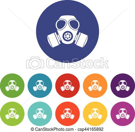Gas Mask clipart chemical Icons Vectors csp44165892 colors mask