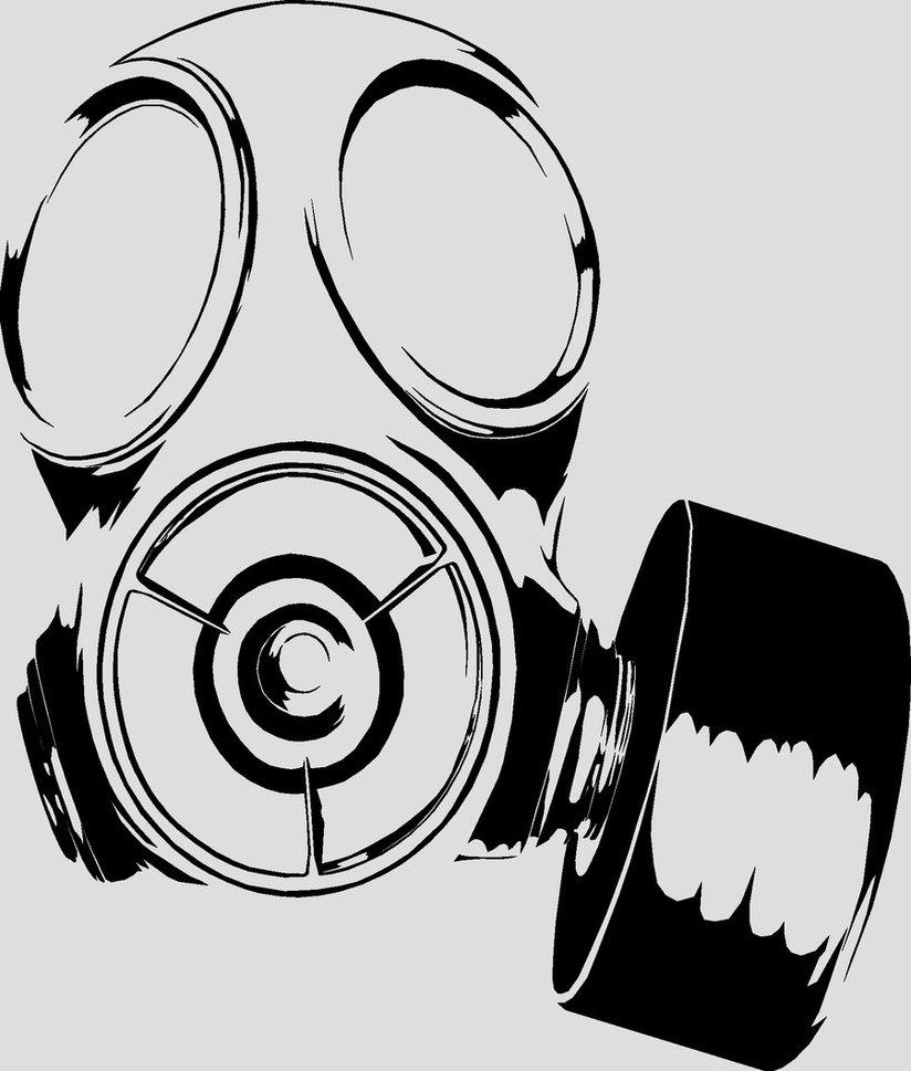 Gas Mask clipart drawn DeviantArt Gas on Gas Burrly