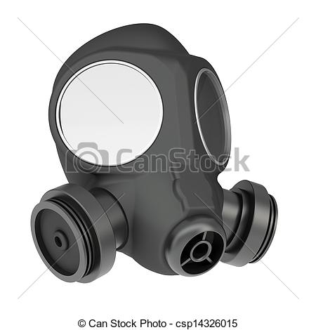 Gas Mask clipart drawn White Gas background a Gas