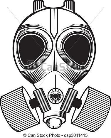 Gas Mask clipart drawn Gas Vector mask  white
