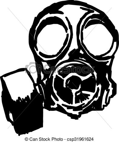 Gas Mask clipart drawn Illustration  Vector of doodle