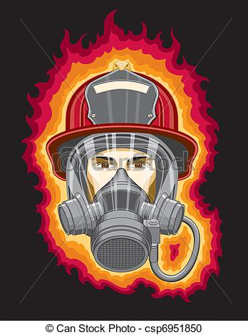 Firefighter clipart mask And csp6951850 and Mask with