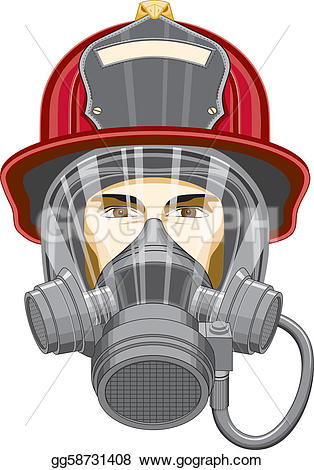 Firefighter clipart mask And head of Drawing Drawing