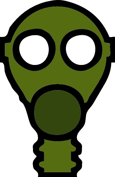Gas Mask clipart hazmat Svg art clip Mask Open