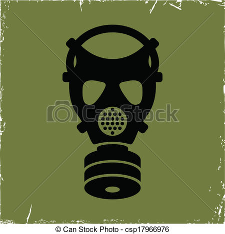 Gas Mask clipart logo Background mask old of effect