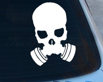 Gas Mask clipart mac Skull Decal Fallout Etsy decal