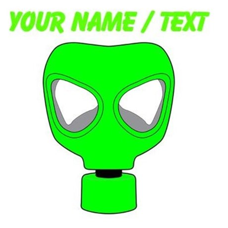 Gas Mask clipart neon gas Green by Design Front Back