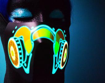 Gas Mask clipart neon gas Neon Half EL Light Green