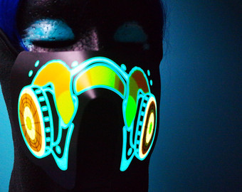 Gas Mask clipart neon gas Mask Neon Reactive Half Light
