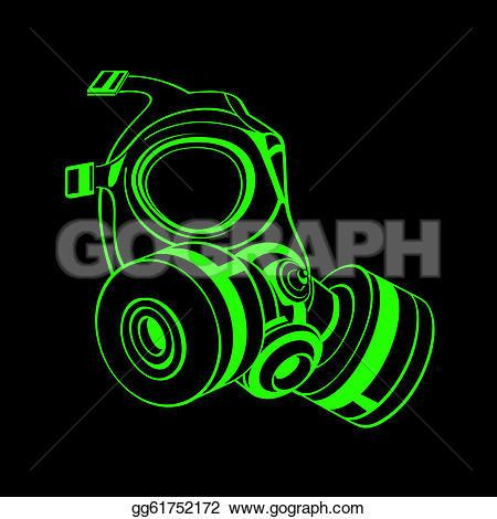 Gas Mask clipart neon gas EPS gg61752172 Green gg61752172 Vector