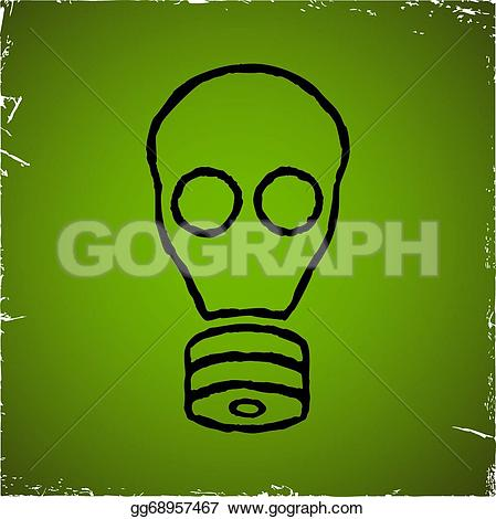Gas Mask clipart radioactive Vector scratched Vector on chemical