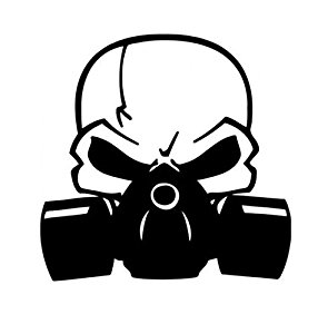 Gas Mask clipart respirator Laptops with Decal Gas Mask