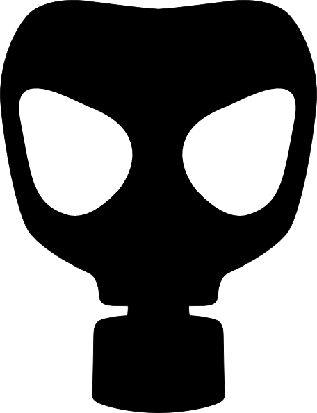 Gas Mask clipart silhouette Clip this Clip Plain image