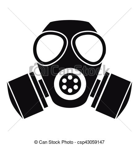 Gas Mask clipart simple Gas Chemical of gas style