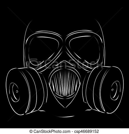 Gas Mask clipart simple Simple 2 Gas Clip Illustrations