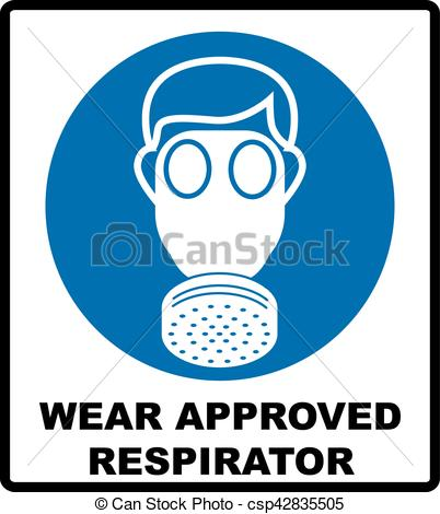 Gas Mask clipart simple Icon half of background style