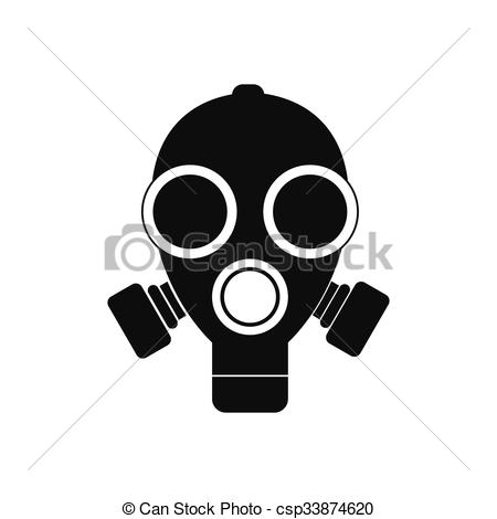 Gas Mask clipart simple Mask  Gas black on