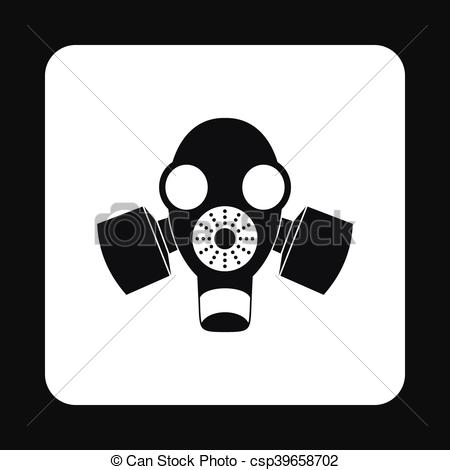 Gas Mask clipart simple Simple mask icon mask style