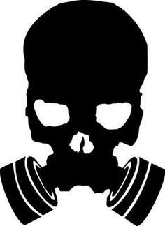 Gas Mask clipart skeleton Decal Vinyl SkullS Sticker Skull