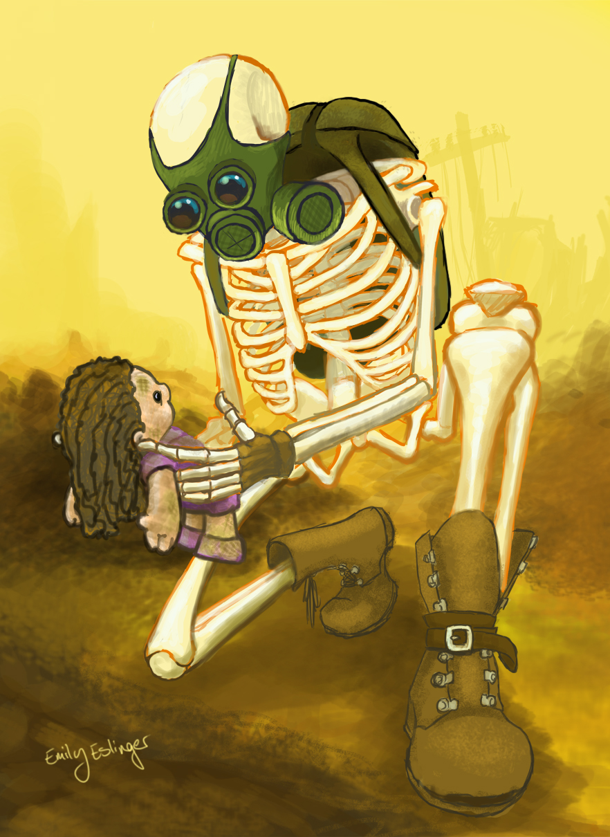 Gas Mask clipart skeleton Green by DeviantArt angry Skeleton