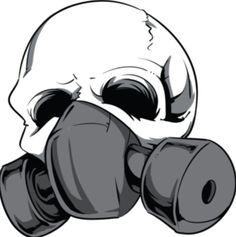 Gas Mask clipart skeleton Skulls Mask Skull Gas Skeletons