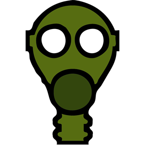 Gas Mask clipart skeleton Gas clipart  eps mask