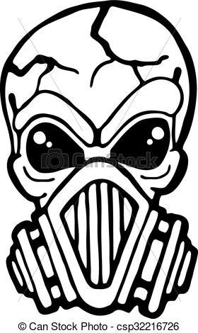 Gas Mask clipart skeleton Of Vector Illustration csp32216726 mask