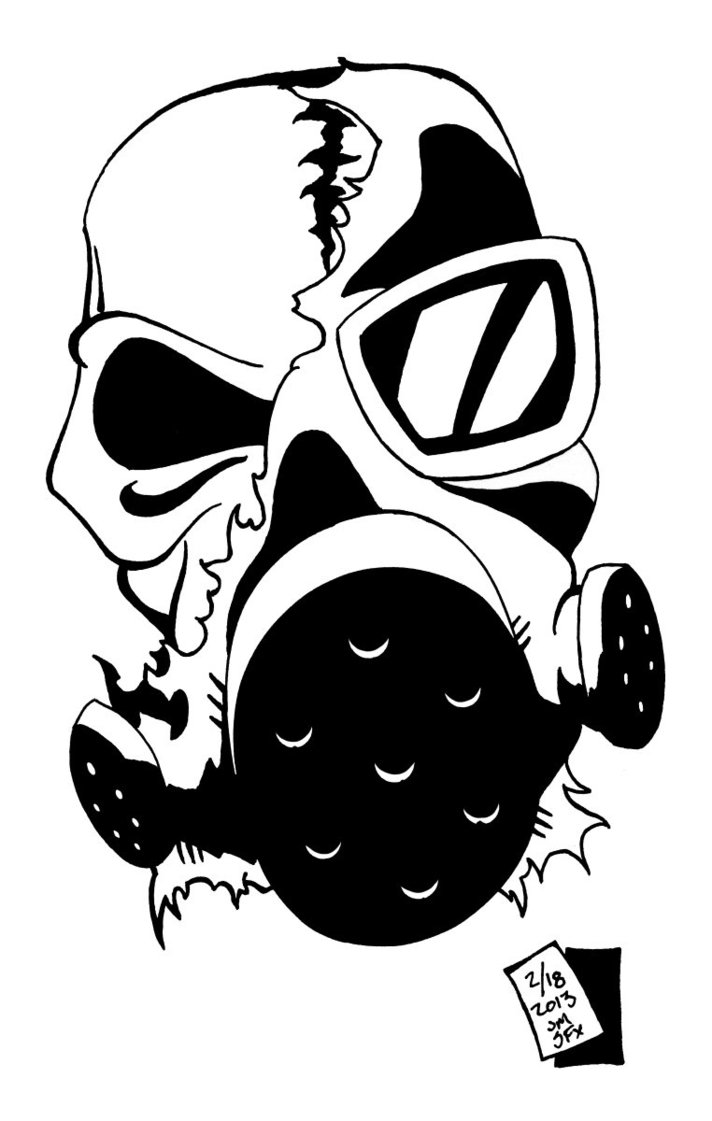 Gas Mask clipart skeleton  2 Image Gas ⋆