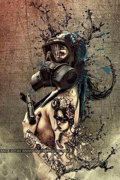 Gas Mask clipart skrillex Spotlight on Gas girls! pixiv