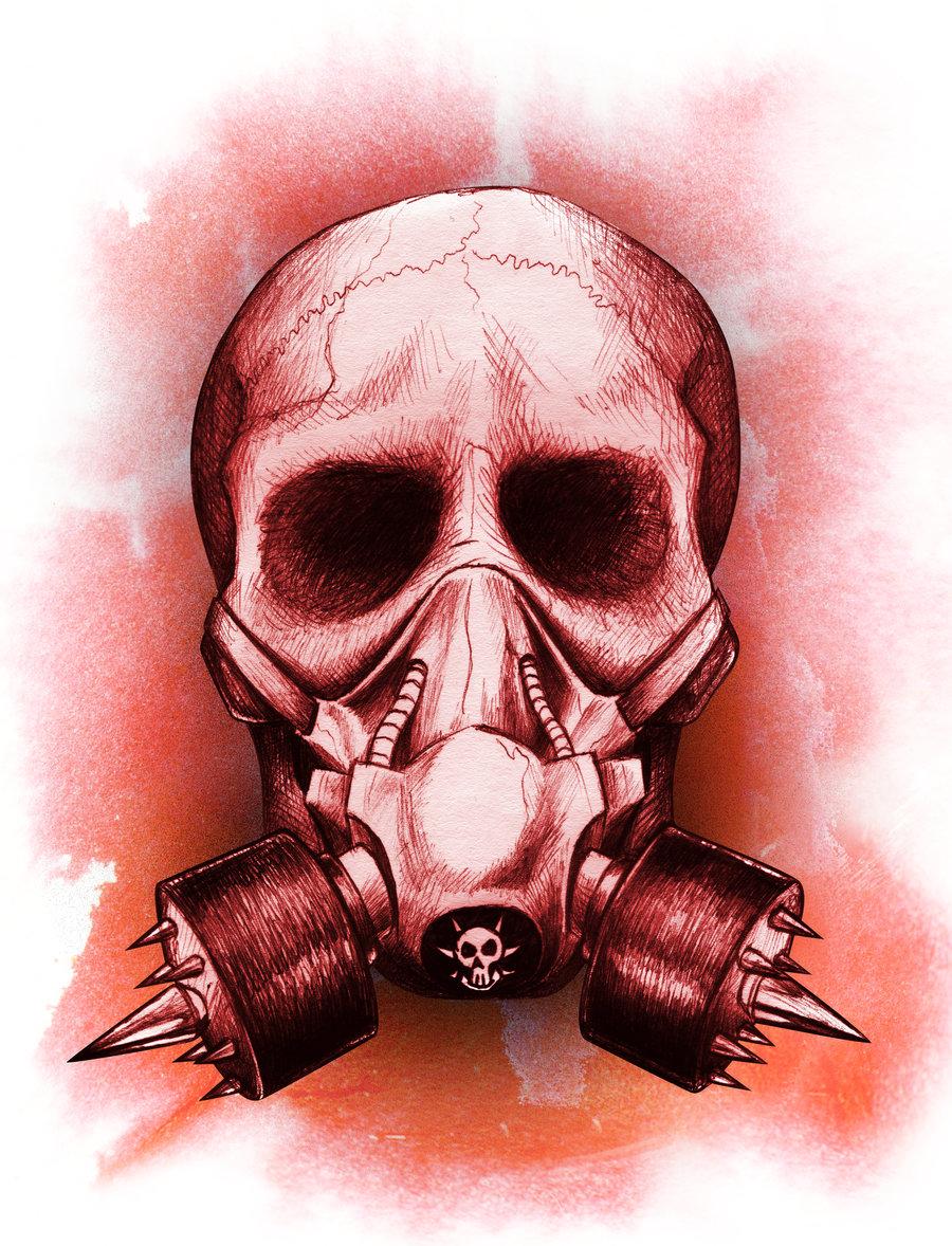 Drawn skull wicked Mask ~beanarts Mask Wicked Gas