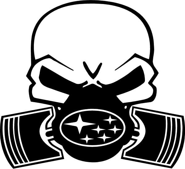 Gas Mask clipart sticker 06 / Decal SUBARU SKULL