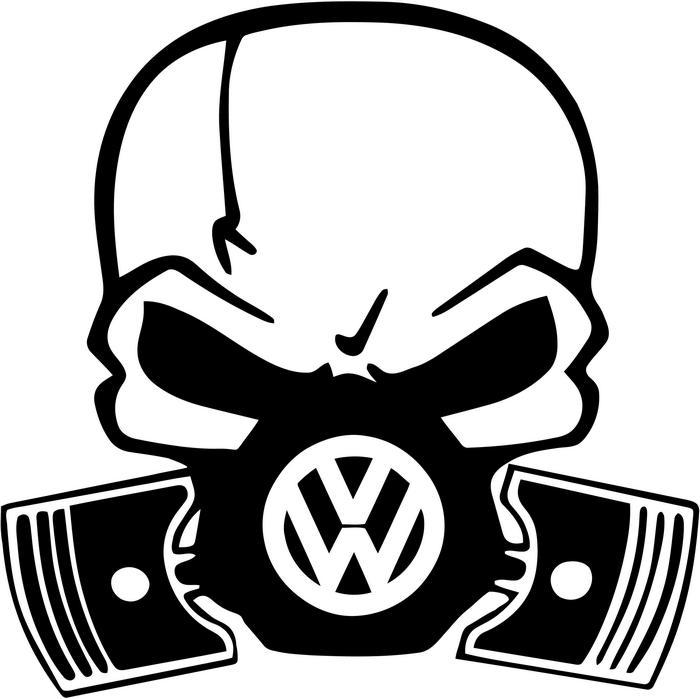 Gas Mask clipart sticker Vinyl VW Piston Decal Skull